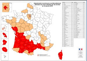 Carte infestation termites ISERE